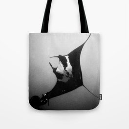 Evading Devil Fish Tote Bag