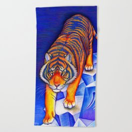 Chinese Zodiac Year of the Tiger Beach Towel