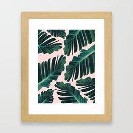 Tropical Blush Banana Leaves Dream #1 #decor #art #society6 Framed Art Print