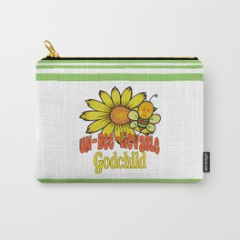 Unbelievable Godchild Sunflowers and Bees Carry-All Pouch