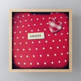 Sweet Heart Framed Mini Art Print