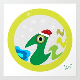 Christmas Duck Art Print