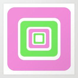 Rhapsody in PinkGreen Art Print