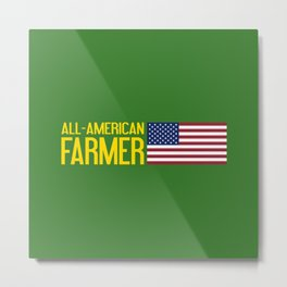 Farmer: All-American Metal Print