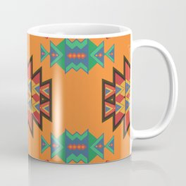 Misc shapes on an orange background Coffee Mug