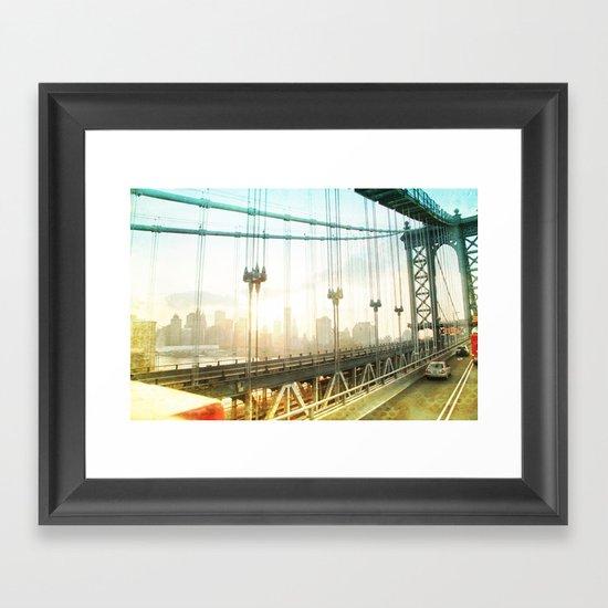 New York Rising _ manhattan bridge Framed Art Print