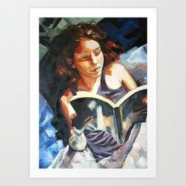 Night Reader Art Print