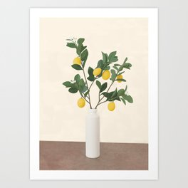 Lemon Branches II Art Print