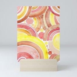 Rainbow bubbles Mini Art Print