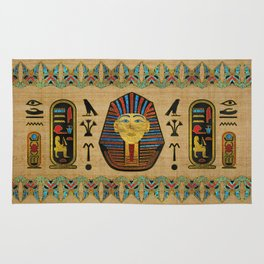 Egyptian Sphinx Ornament on papyrus Rug