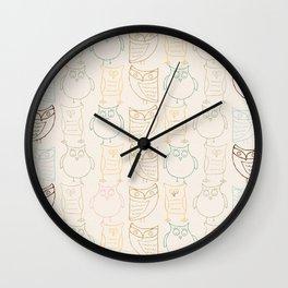 Owls Wall Clock