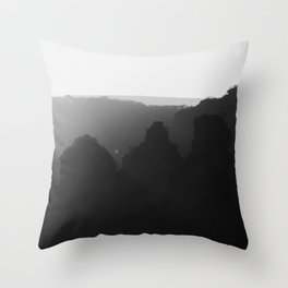 Three Sisters B&W Throw Pillow