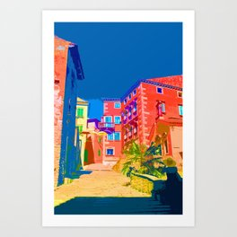 Labin Steps Croatia Europe Art Print