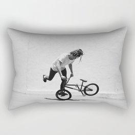 Flatland BMX Rider Rectangular Pillow