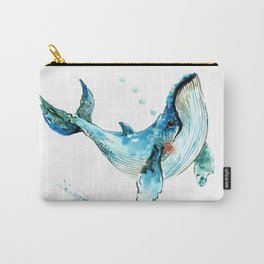 Humpback Whale Artwork Children Illustration Cute little Whale, whale design Carry-All Pouch