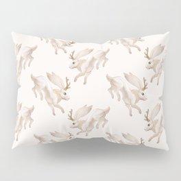 White Jackalope Pillow Sham