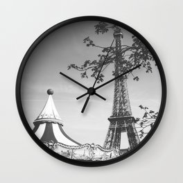 Spring Time in Paris Wall Clock
