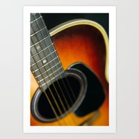 guitar Art Prints featuring Guitar by Bruce Stanfield
