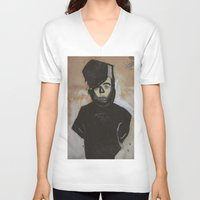 goth V-neck T-shirts featuring Goth by Rick Onorato
