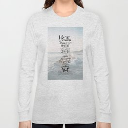 Life is Like a Camera Travel Photography Quote // Beach + Ocean Waves Background Long Sleeve T-shirt