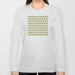 St. Patricks Day: Rainbow Hearts With Shamrocks Long Sleeve T-shirt