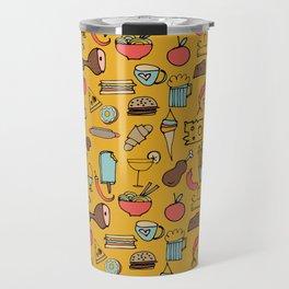 Food Frenzy yellow Travel Mug