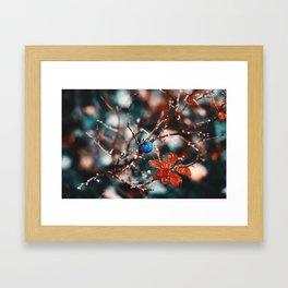 Blueberry Fall Framed Art Print