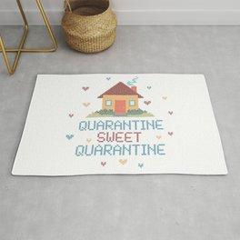 Quarantine Sweet Quarantine - Social Distancing  Rug