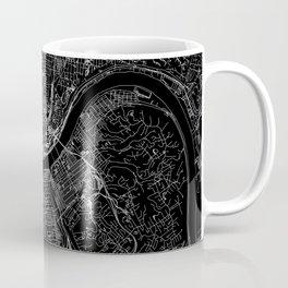 Cincinnati Black Map Coffee Mug