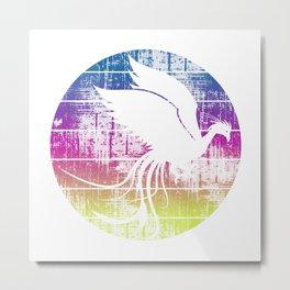 Vintage Rainbow Phoenix Metal Print