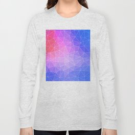 Abstract Colorful Flashy Geometric Triangulate Design Long Sleeve T-shirt
