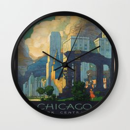 Vintage poster - Chicago Wall Clock