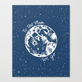 To the Moon We Go Canvas Print