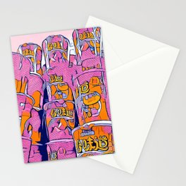 PopArt Noodles Pink in Milano Stationery Cards