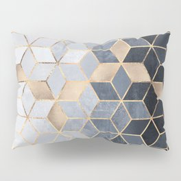 Soft Blue Gradient Cubes Pillow Sham