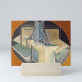 """Juan Gris """"Raisins, carafe et livre (Grapes, jug and book)"""" Mini Art Print"""