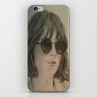 allyson johnson iPhone & iPod Skins featuring DAKOTA JOHNSON by Virginieferreux