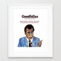 goodfellas Framed Art Prints featuring GoodFellas by AdrockHoward
