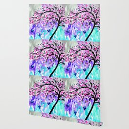 cherry blossom with Ulysses butterflies Wallpaper