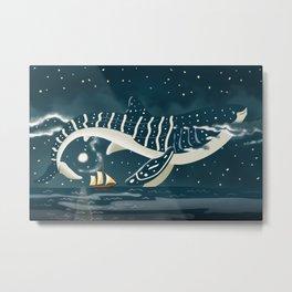 Sky Whale Shark Metal Print