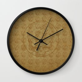 Vintage Grateful Dead Steal Your Face Pattern Wall Clock