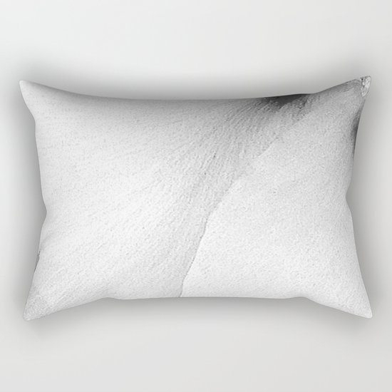 Flower | Flowers | White Petals | Macro Nature Rectangular Pillow