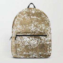 Elegant chic faux gold foil paint splatters pattern Backpack