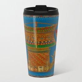 A Boat of Reed Egyptian Folk Art Travel Mug
