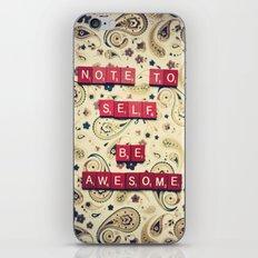 Note to Self iPhone & iPod Skin