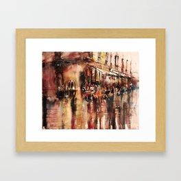 Soirée au Comptoir du commerce Framed Art Print
