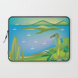 Antigua & Barbuda - Skyline Illustration by Loose Petal Laptop Sleeve