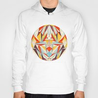 glitch Hoodies featuring Everything is Fine by Anai Greog