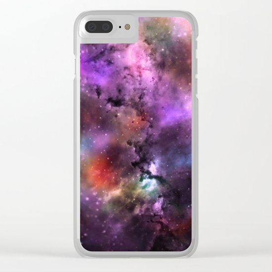 A Sprinkle Of Color in Space Clear iPhone Case