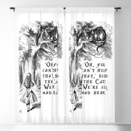 We're all mad here Blackout Curtain
